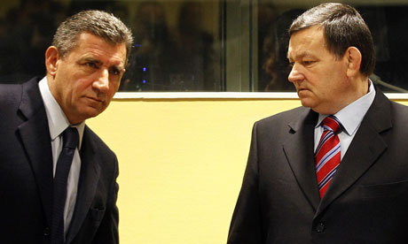 Ante Gotovina, left, and Mladen Markac